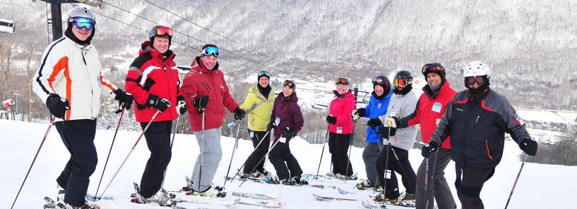 Skiing at Bristol Mountain