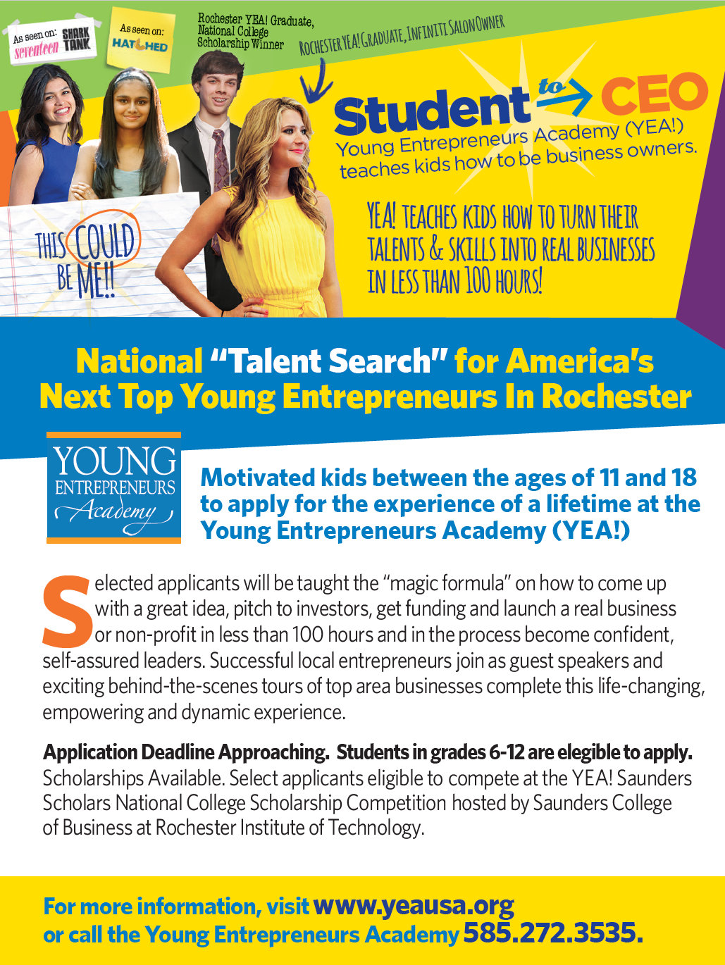 """The """"Talent Search"""" is on for America's Next Top Young Entrepreneur"""