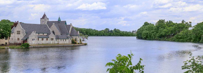 Trinity Church on Van Cleef Lake in Seneca Falls, NY