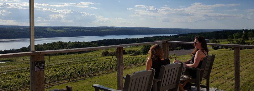 Sipping Wine at Atwater Estates Vineyards